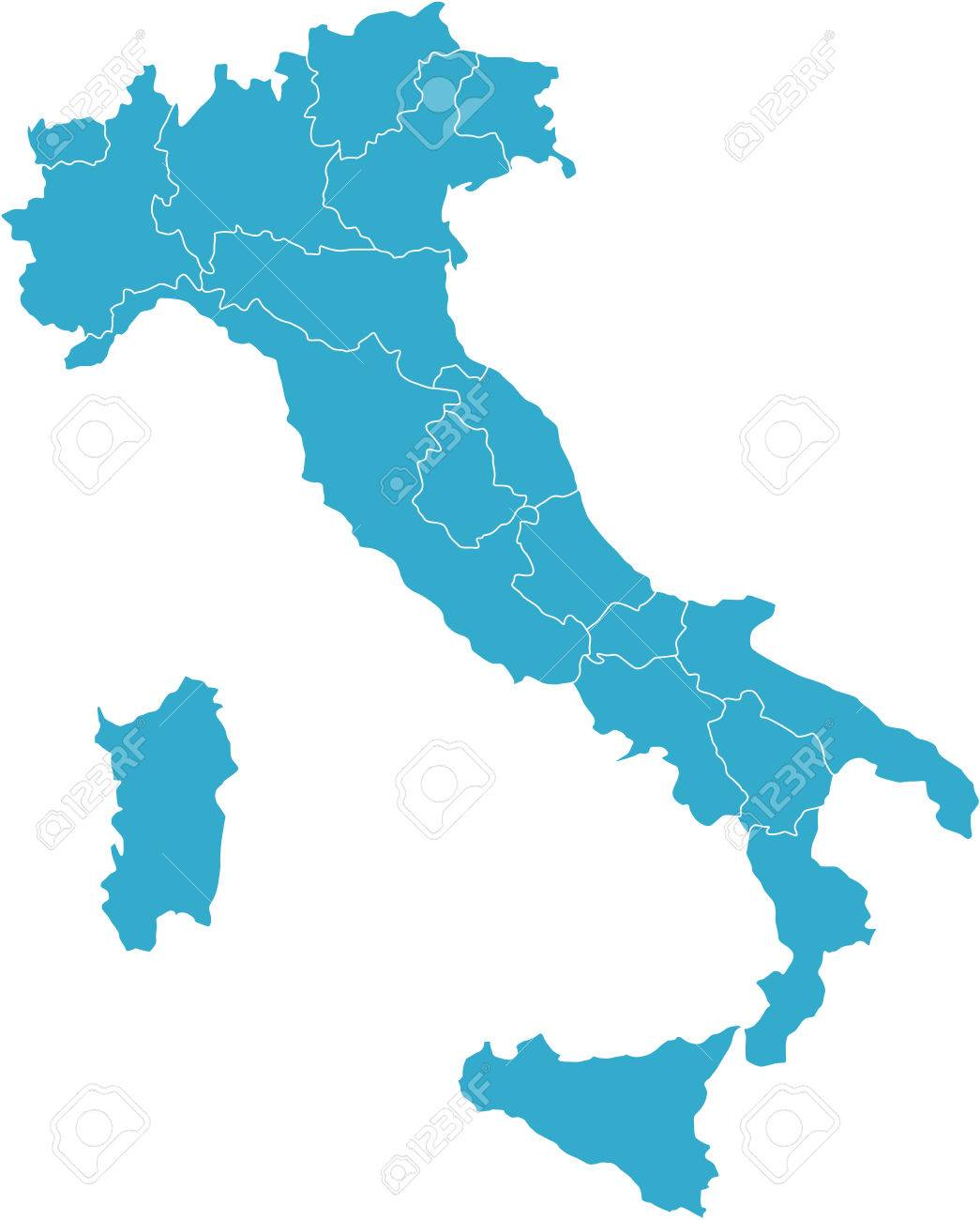 There is a map of Italy country Stock Vector - 4292604