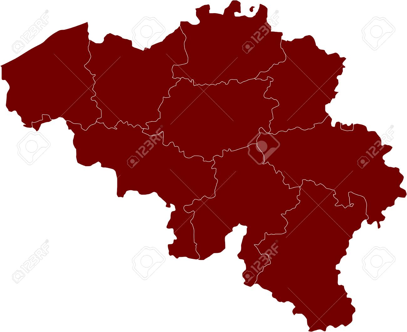 There is a map of Belgium country Stock Vector - 4361608