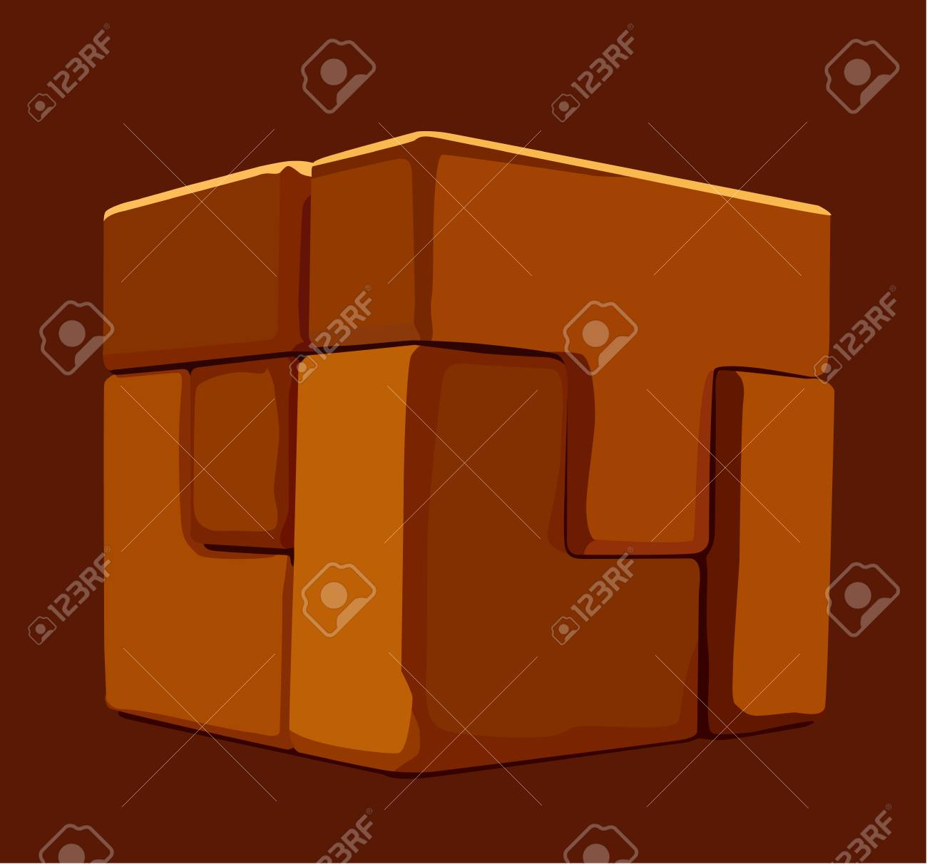 There is puzzle cube of various shapes Stock Vector - 4419844