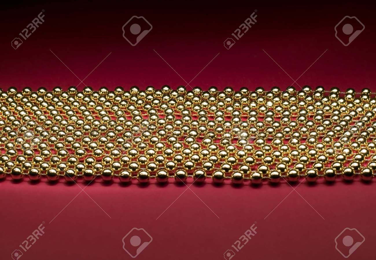 There are many little balls on red background Stock Photo - 5893477