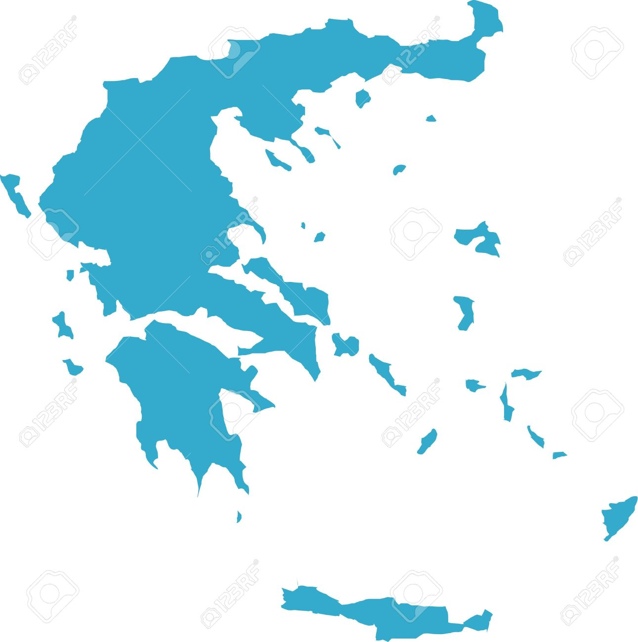 Country Of Greece Map.There Is A Map Of Greece Country