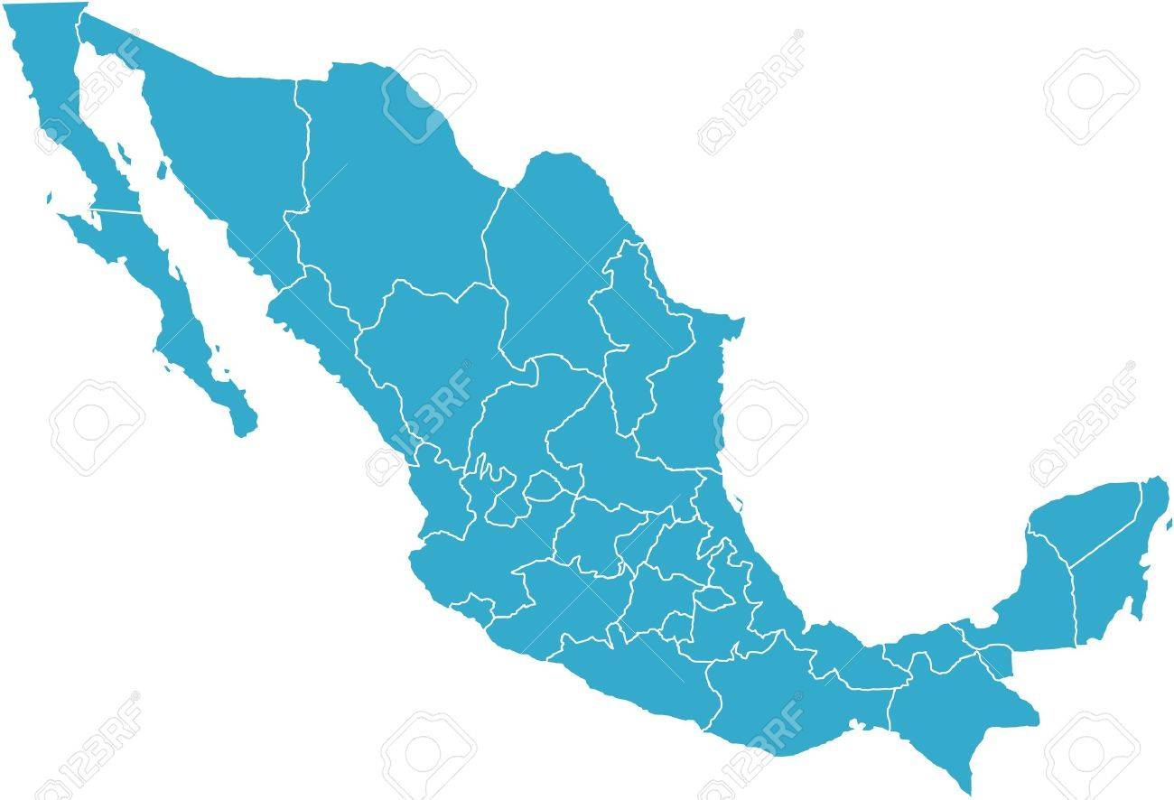 stock photo there is a map of mexico country
