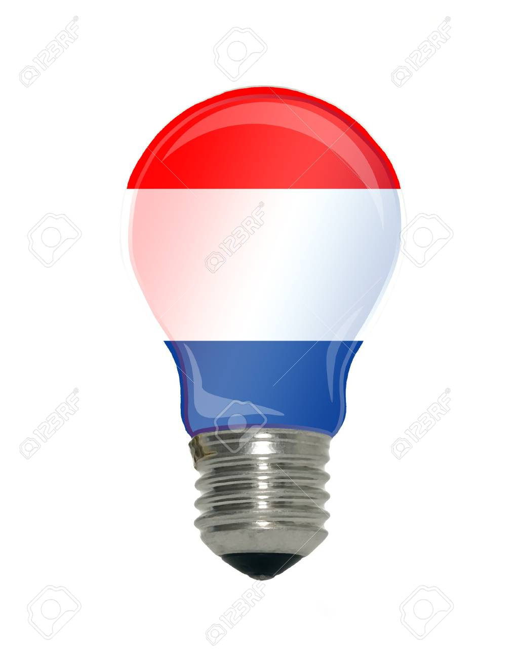 There is a flag of Netherlands in light bulb, idea concept Stock Photo - 7607929