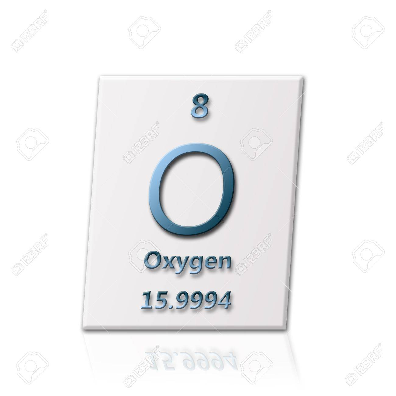 There is a chemical element Oxygen with all informatin about it Stock Photo - 7613145