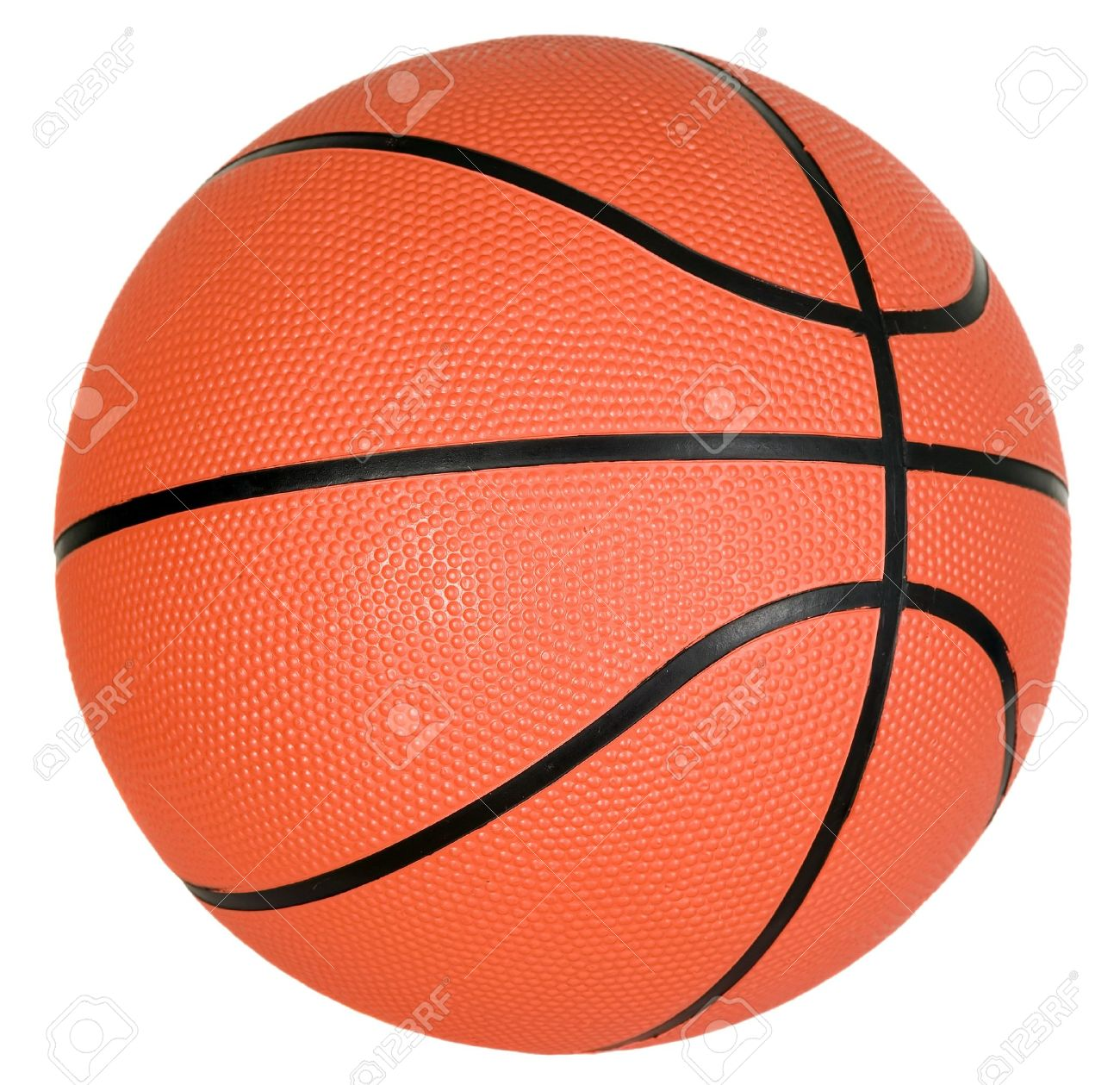 There is orange ball with black strips for basketball game Stock Photo - 7846882
