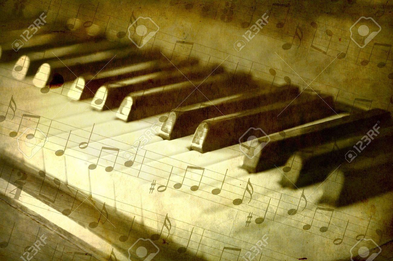 Piano Black Background Black And White Piano Keys