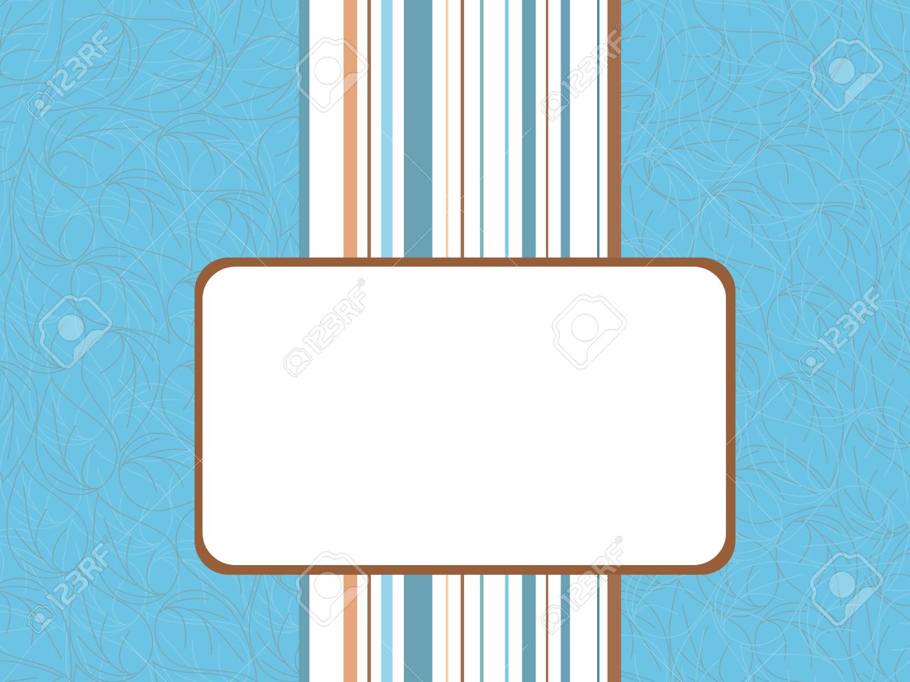 Vector frame with white space for writing and ornamented background Stock Vector - 9465305