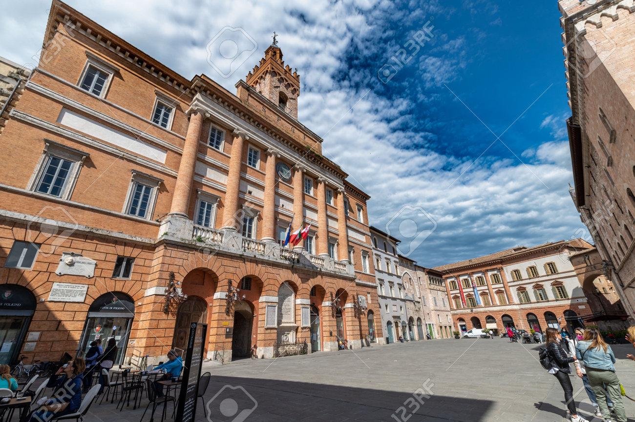 foligno, italy may 22 2021: church of san feliciano in foligno in the city center - 169123889