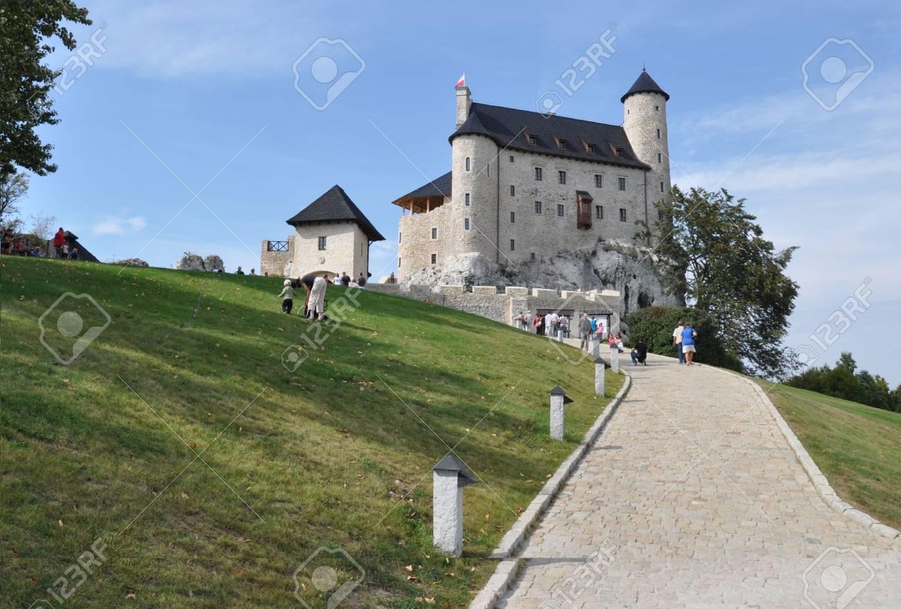 Bobolice, Poland - September 19, 2011 - View of renovated Bobolice Castle Stock Photo - 11719599