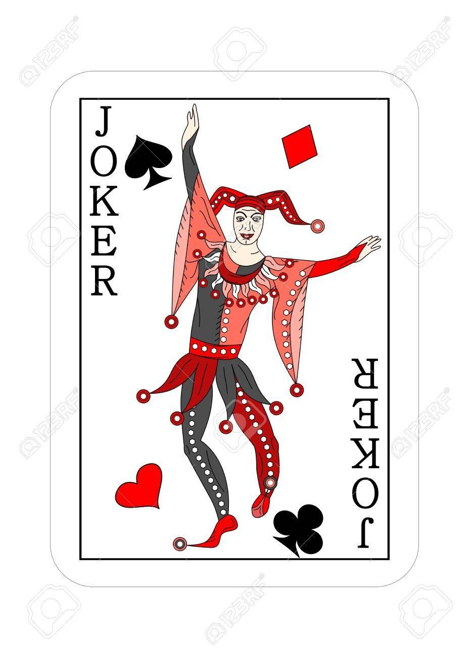 Halloween Joker Card.The Illustration Playing Card For Poker Joker