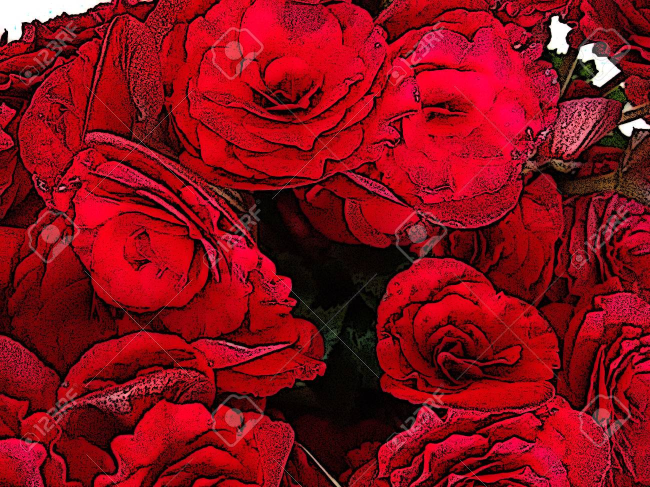 Red Begonia Flower - The Begonia Is A Herbaceous Plant Of Warm ...