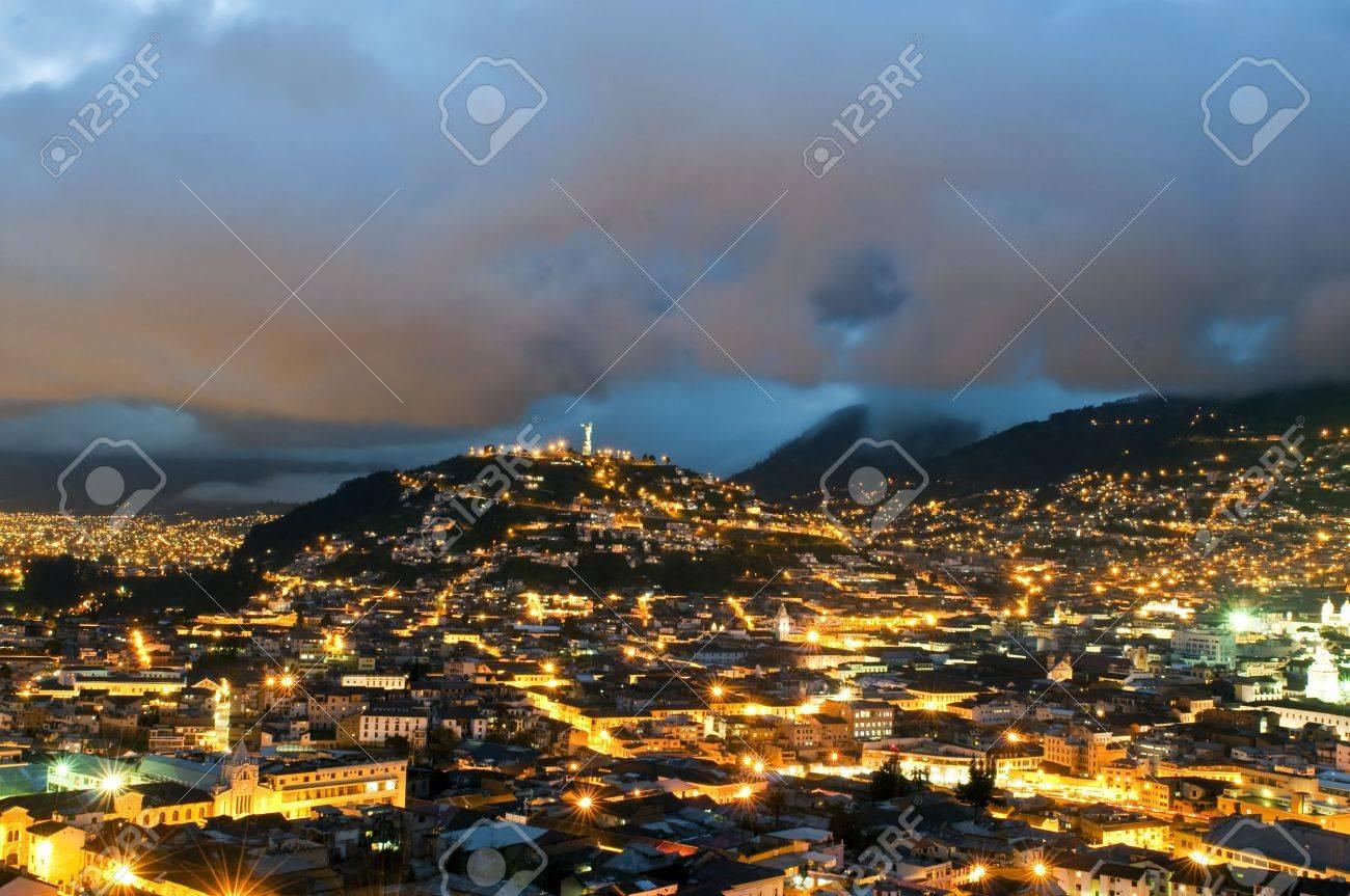 Night Of The Historical Center Of Quito The Capital Of Ecuador - Capital of ecuador