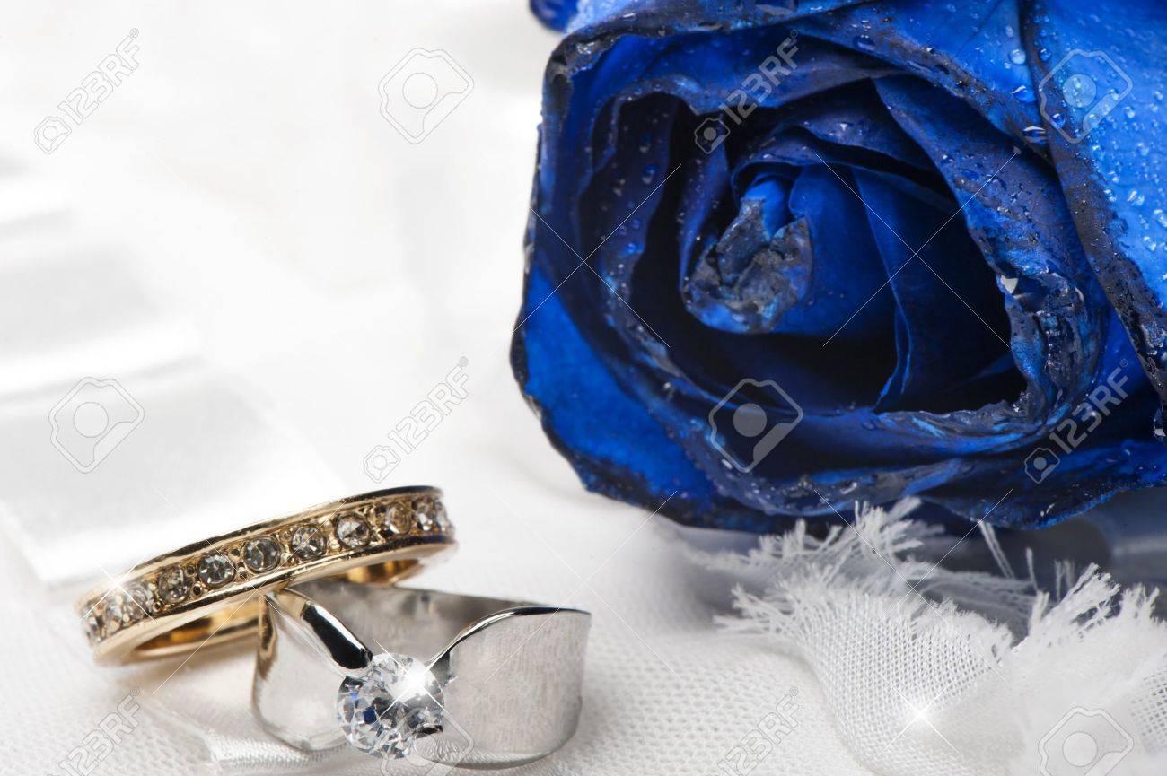 Royal Blue Wedding Ring Background