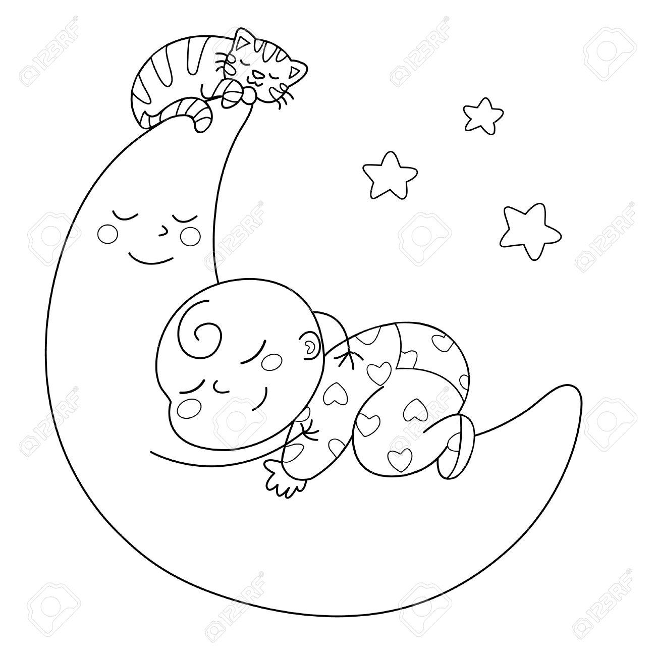 Vistoso Lindo Bebé Mono Para Colorear Molde - Enmarcado Para ...
