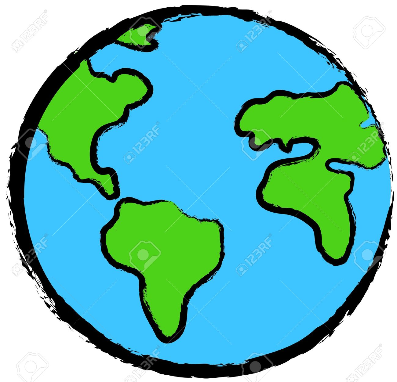 Planet earth icon Stock Photo - 11557778