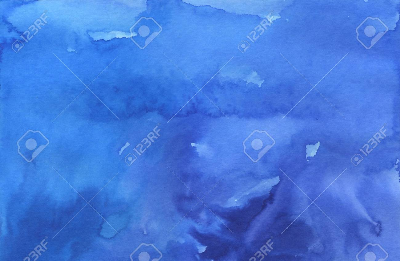 Blue graduated background made with watercolors and inks Stock Photo - 13033919