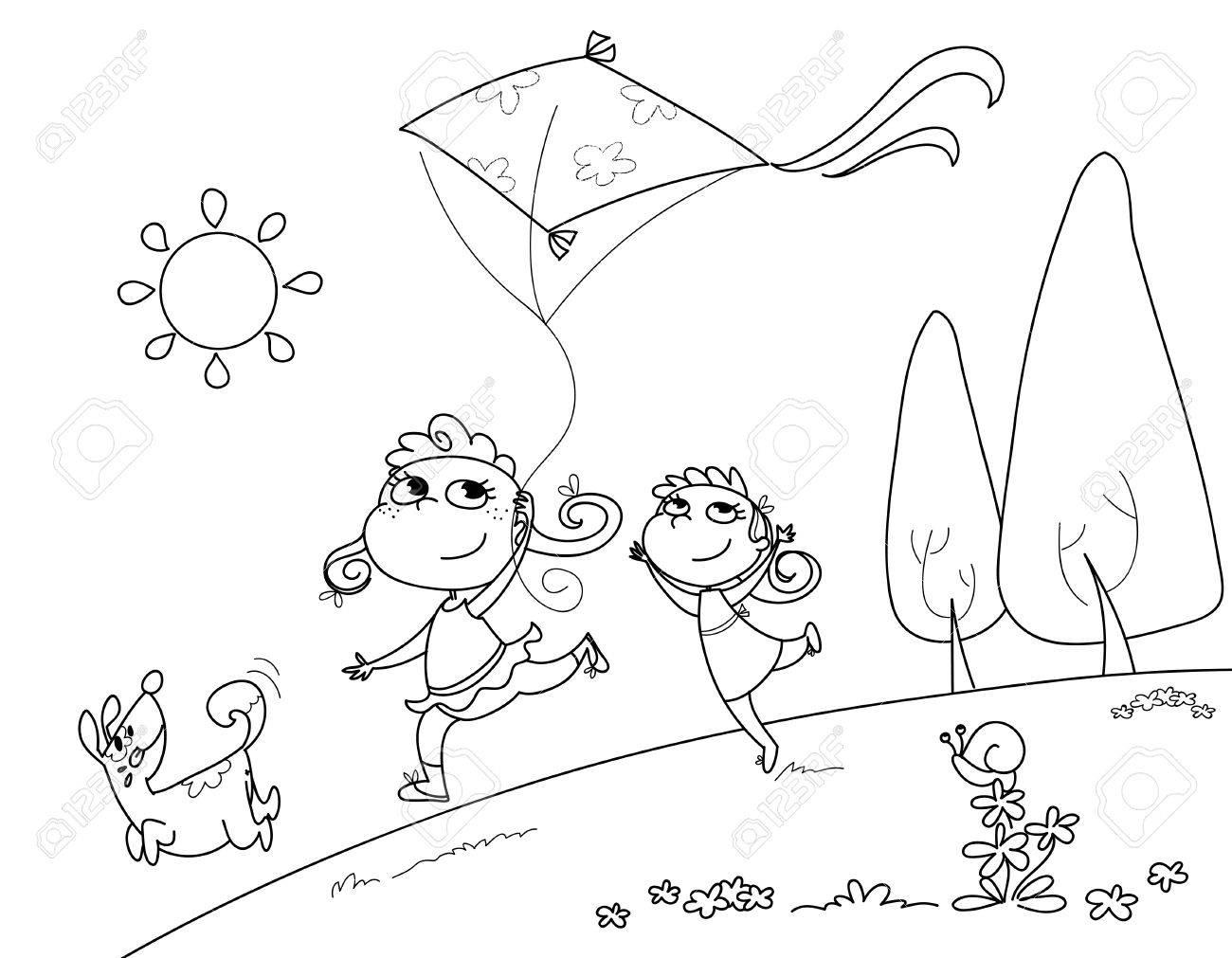 kite cartoon stock photos royalty free kite cartoon images and