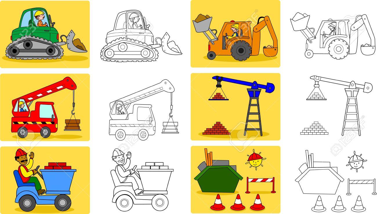 Vistoso Vehículos De Construcción Para Colorear Adorno - Dibujos ...