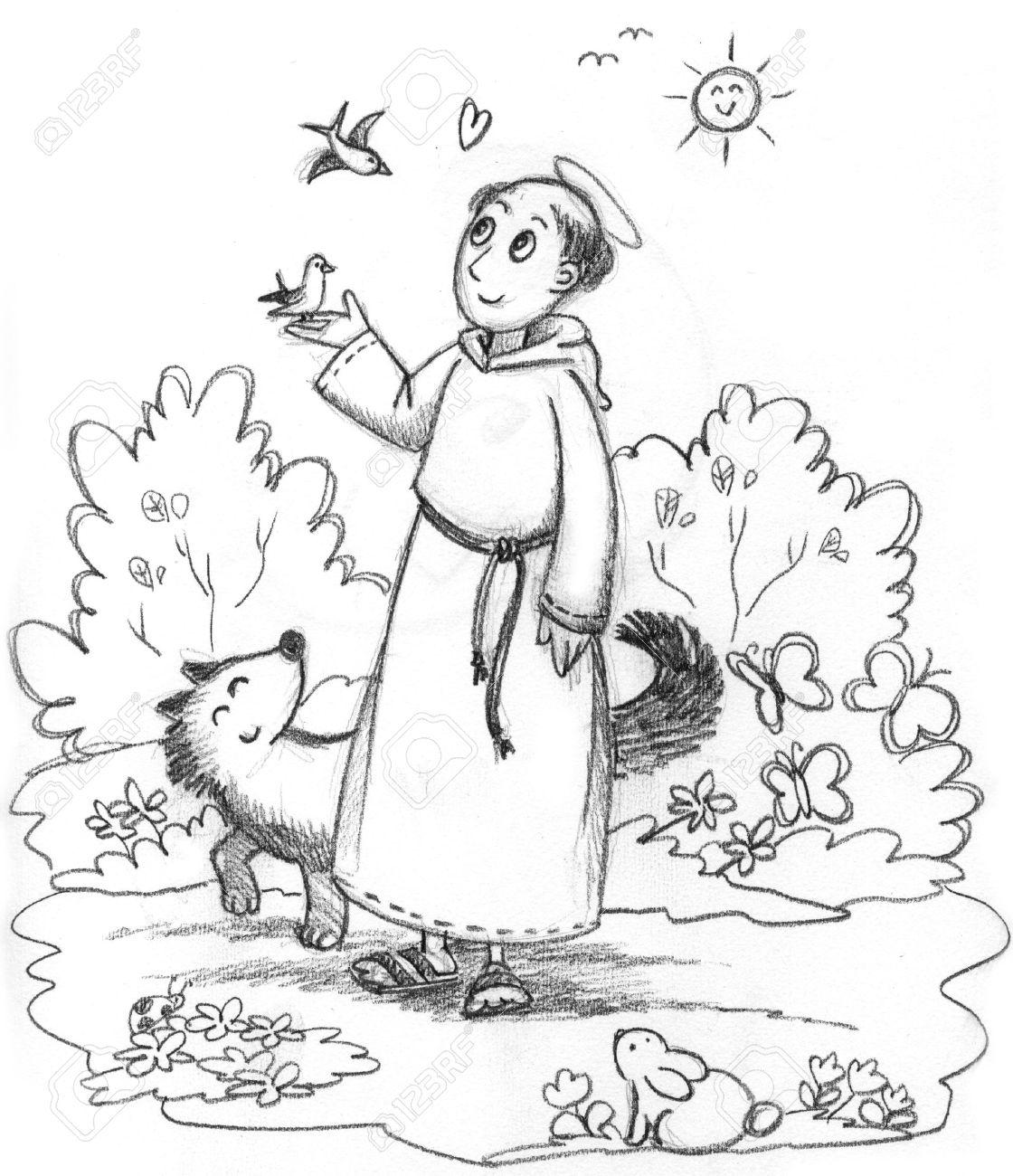 Estremamente Disegni Di San Francesco D Assisi Da Colorare AE36 » Regardsdefemmes ZW12