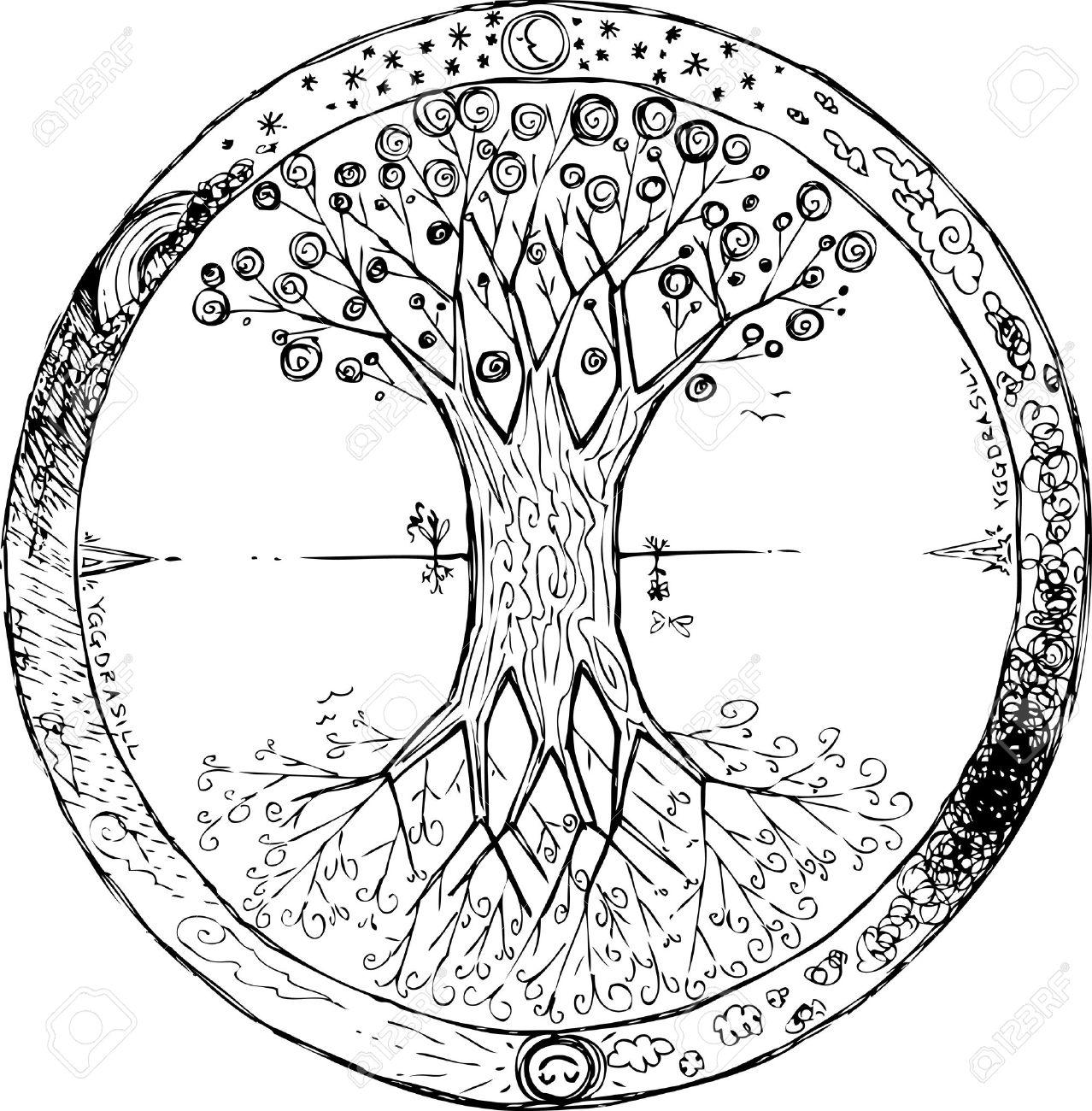 Yggdrasil celtic tree of life mandala Stock Vector - 18526856