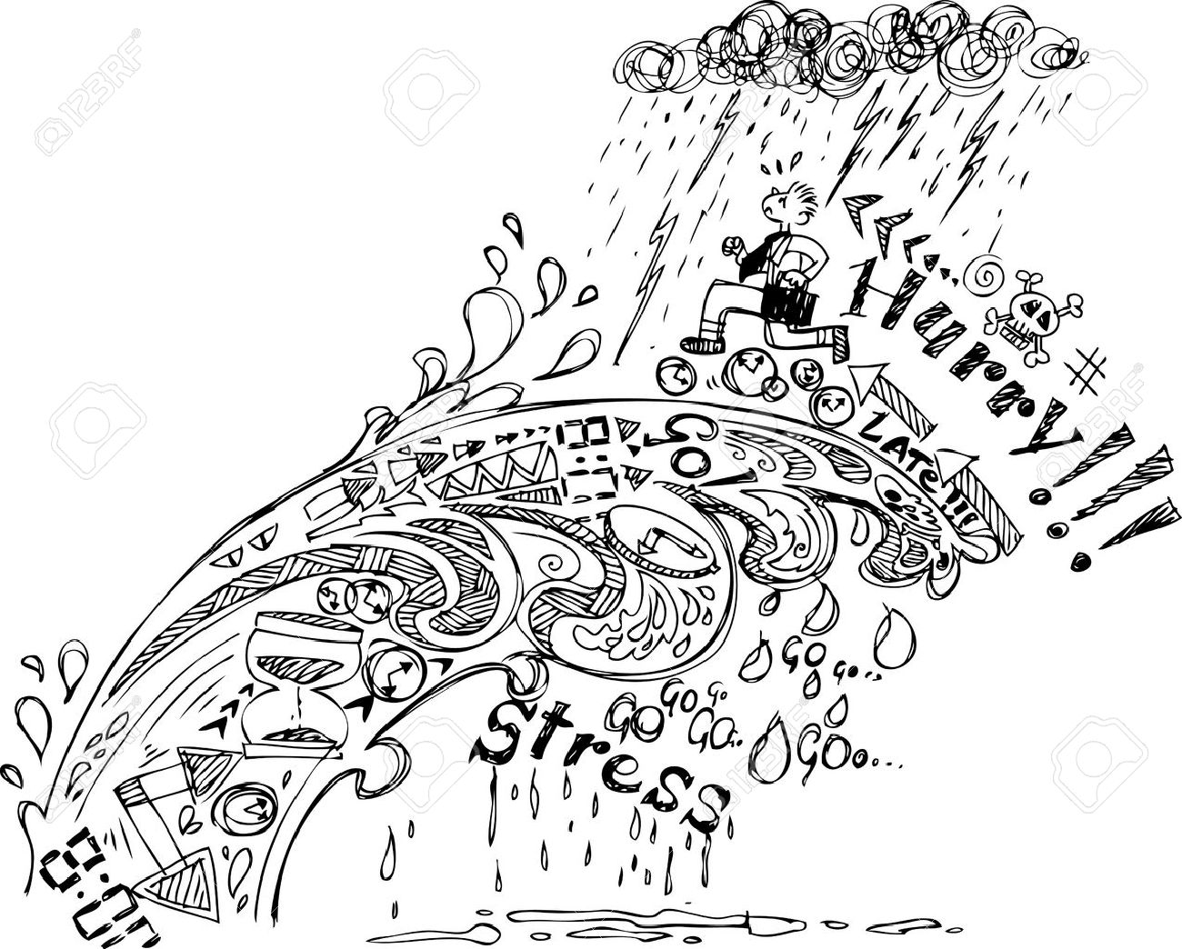 Sketch doodles  Hurry Stock Vector - 20936421