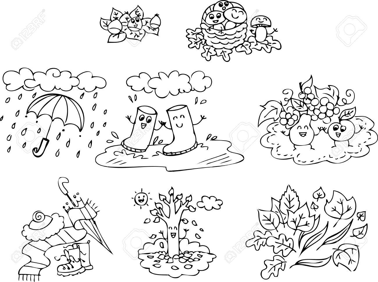 Ausmalbilder Herbst Kindergarten : Malvorlage Herbst Elemente F R Kinder Lizenzfrei Nutzbare