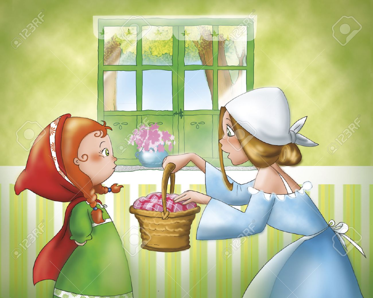 Little Red Riding Hood and her mom - 42035513