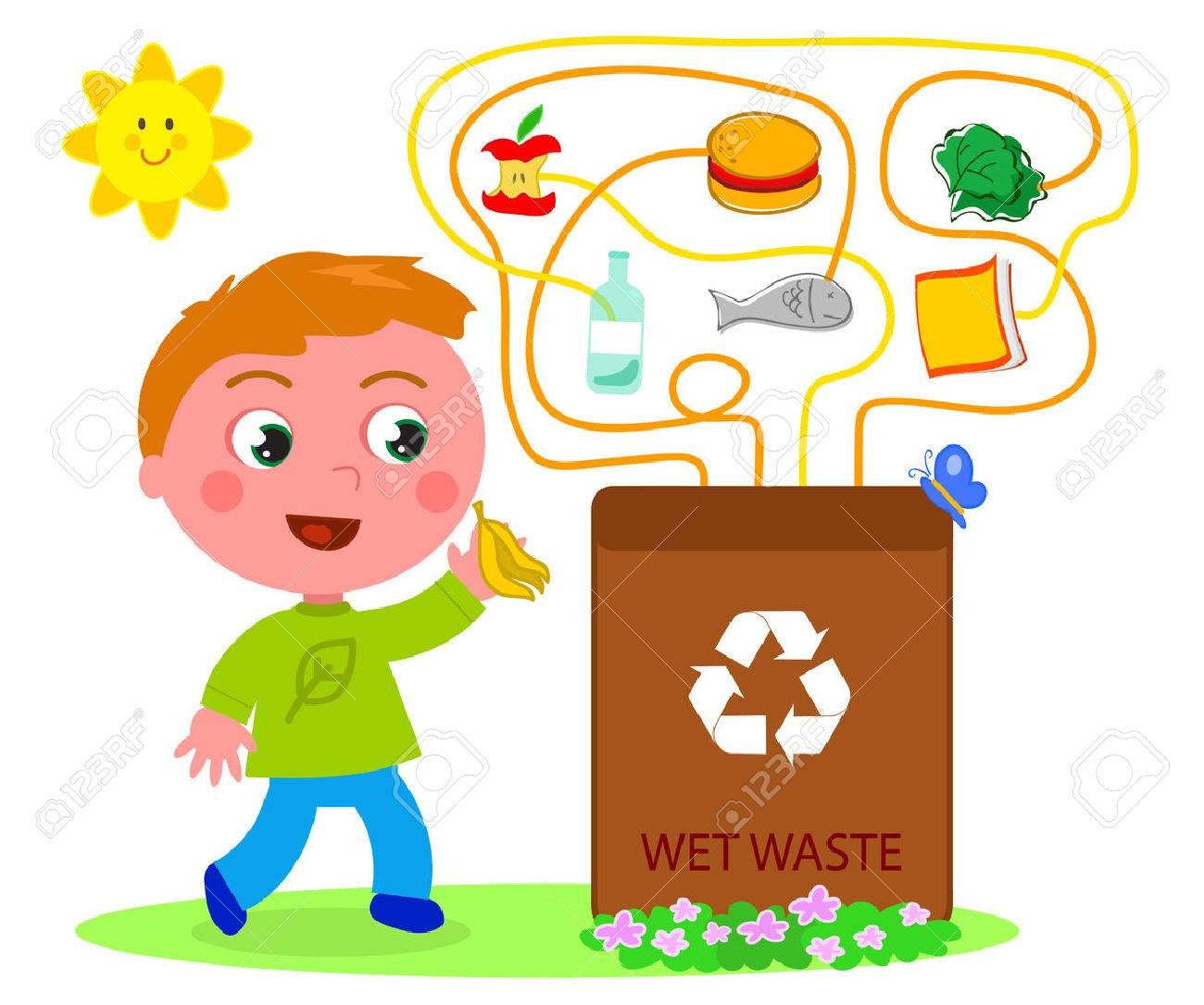 Wet waste recycling game - 55951776