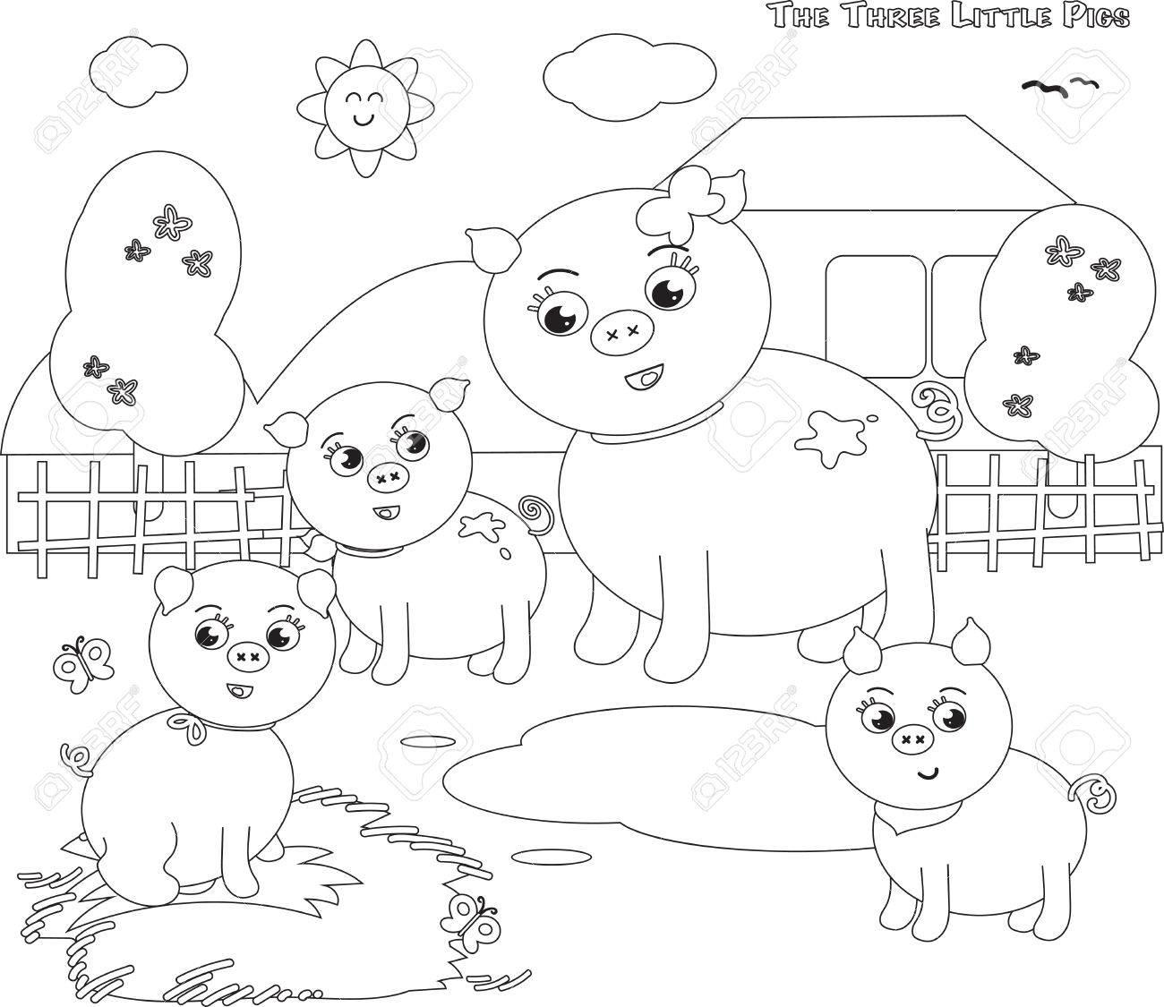 Großzügig Drei Kleine Schweine Vorlage Bilder - Beispiel Business ...