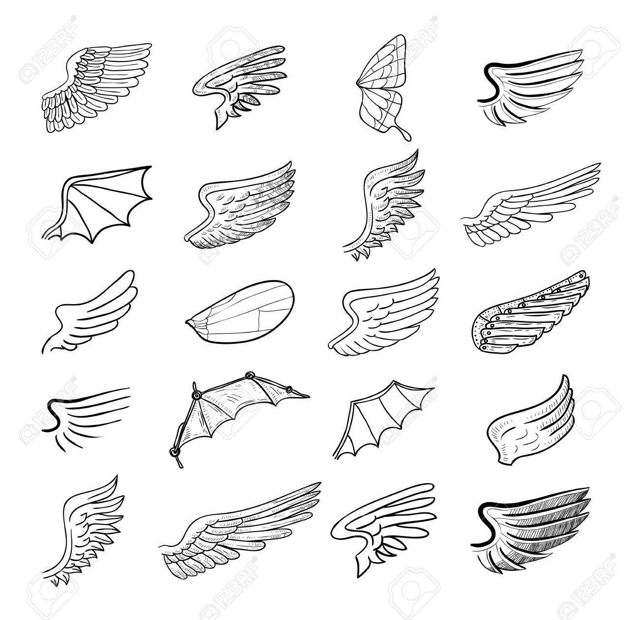 翼はベクターのイラストのイラスト素材ベクタ Image 44689477