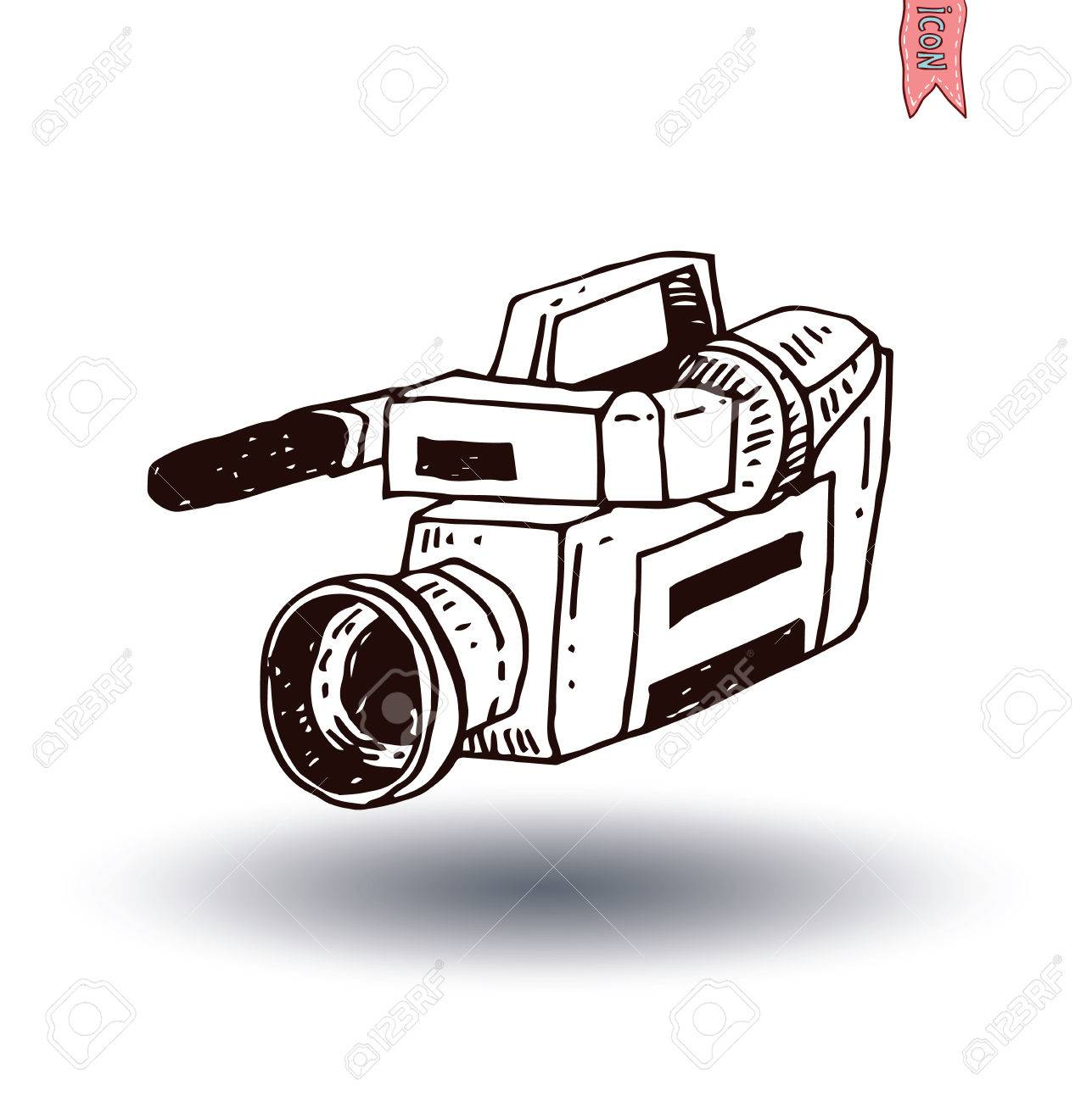 Camcorder Icon Vector Illustration Royalty Free Cliparts Vectors