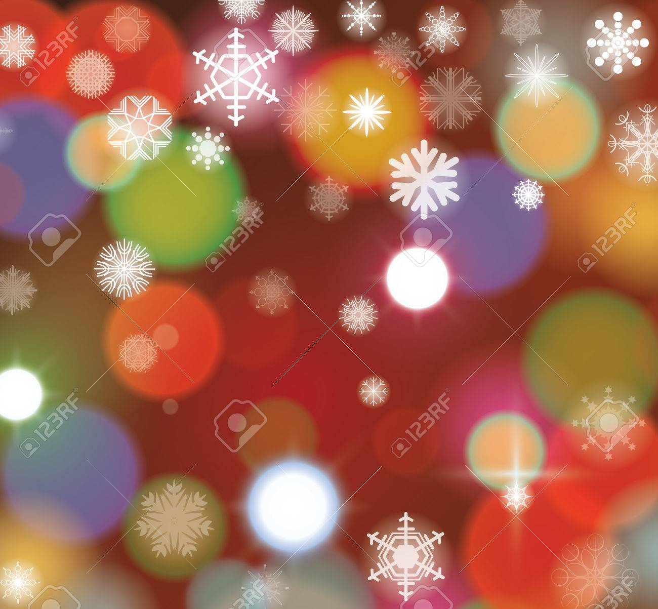 Lights Christmas background, vector. - 47554212