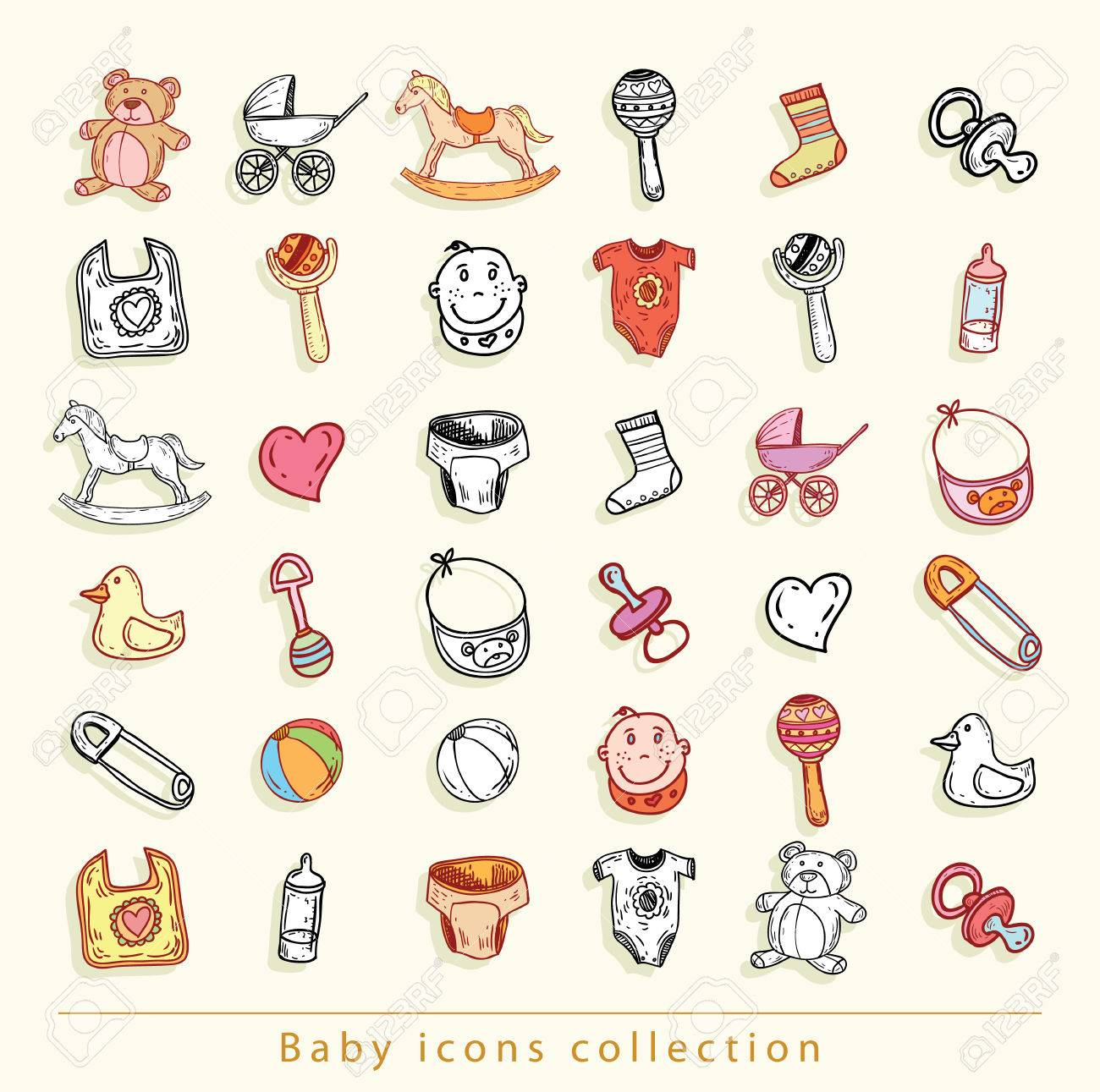 baby icons, vector illustration. - 48738499