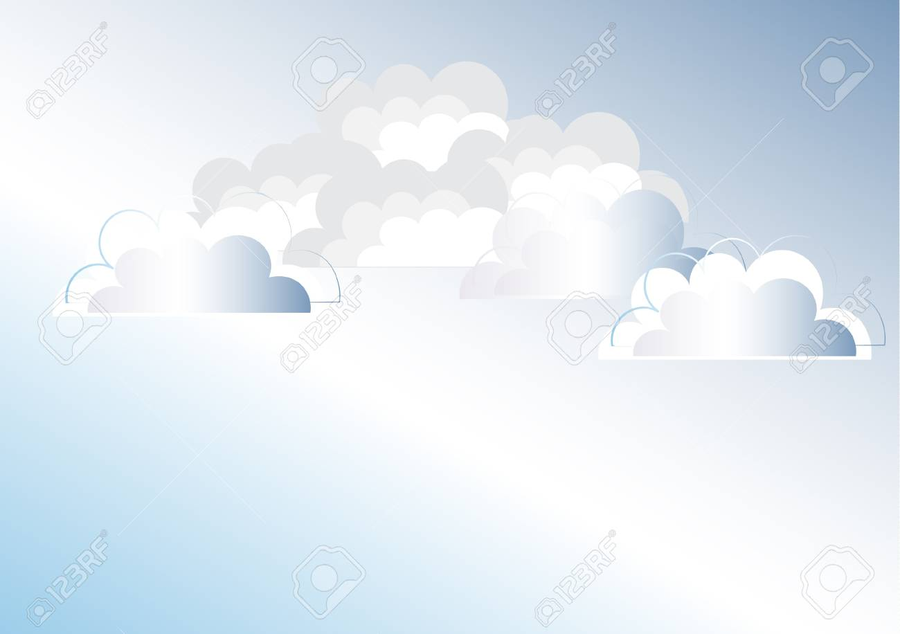Clouds background illustration Stock Vector - 11663895
