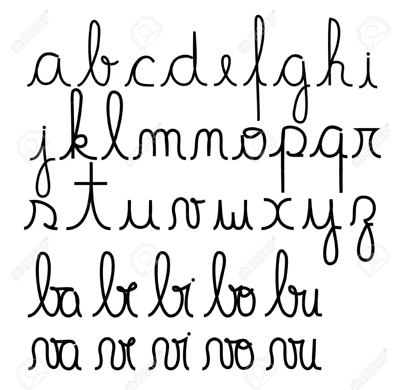 アルファベット 筆記 体