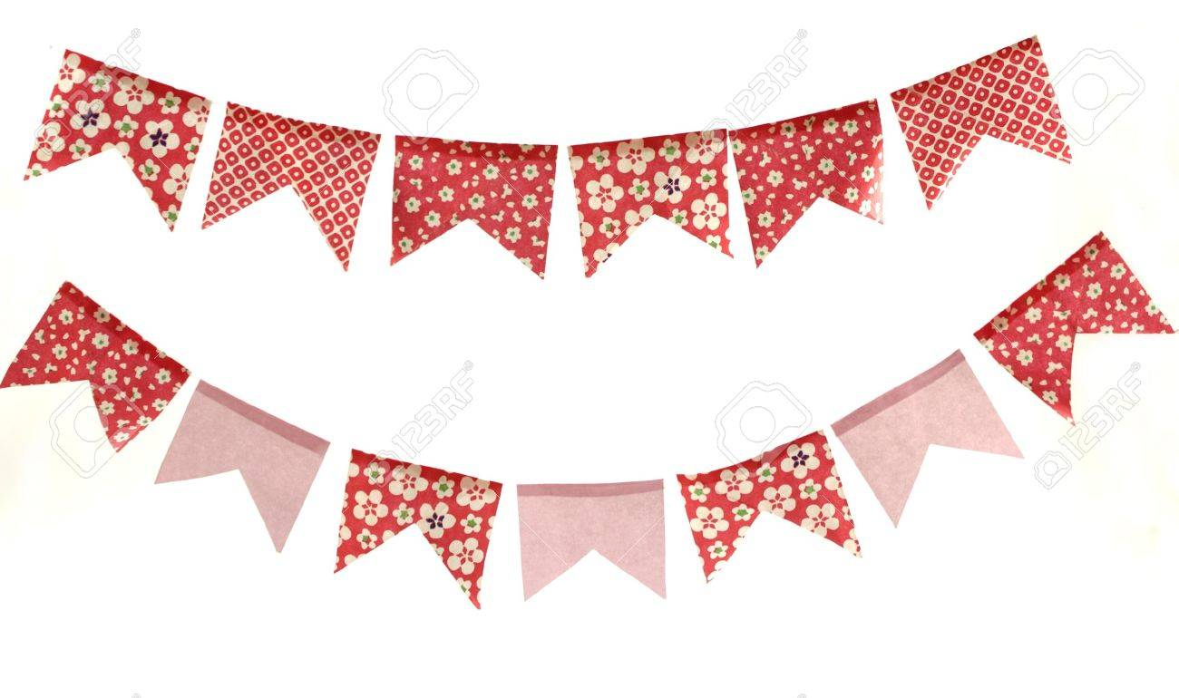 cute banners decorative flags stock photo 20272423 - Decorative Flags