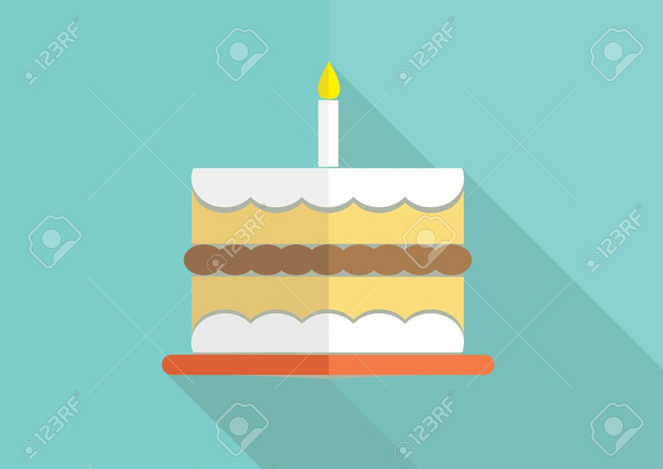 Birthday Cake Flat Design Royalty Free Cliparts Vectors And