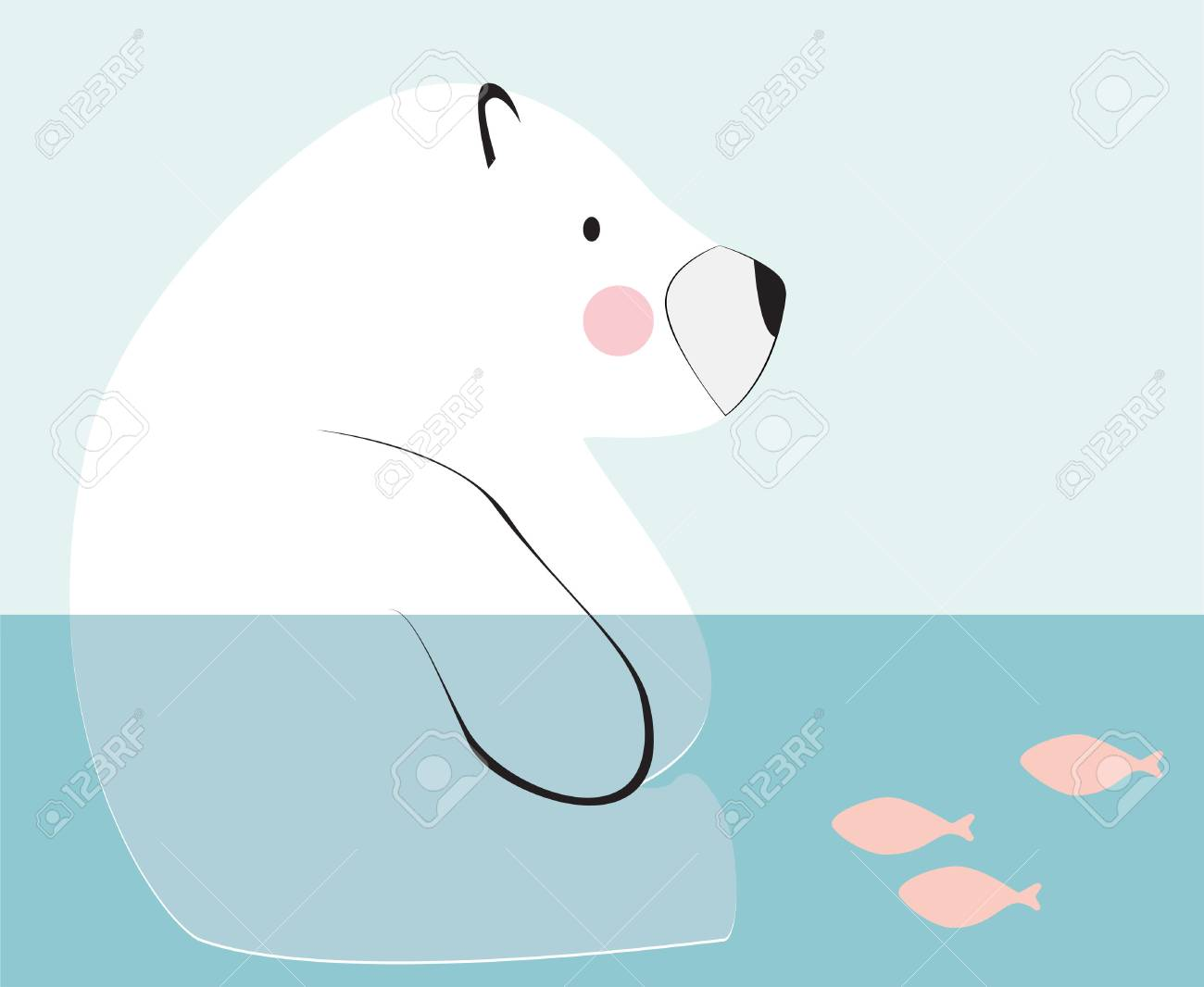 Bear Sitting Down Drawing