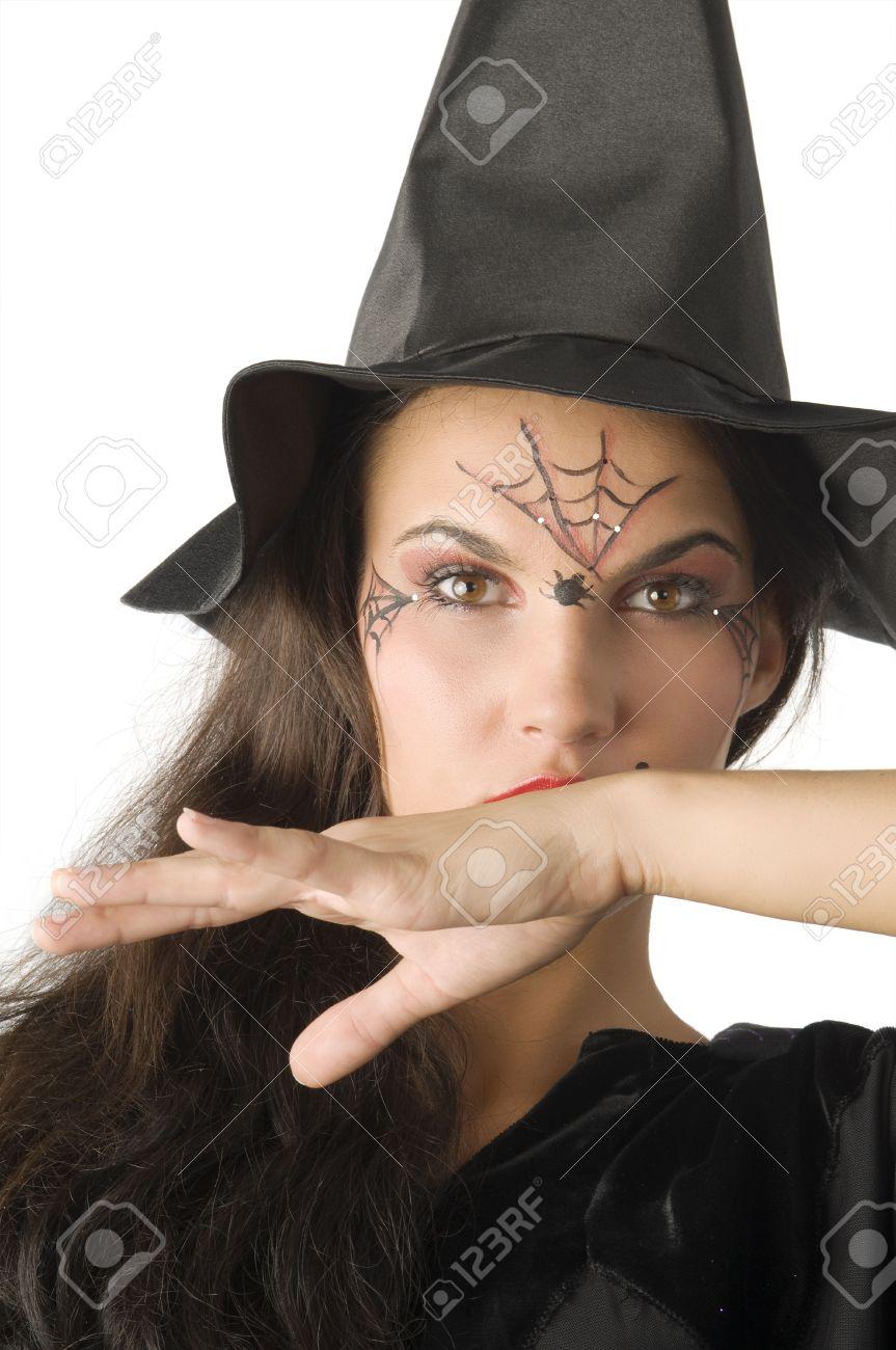 Bonito Como Pintar A Una Bruja En Halloween Patrn Ideas de