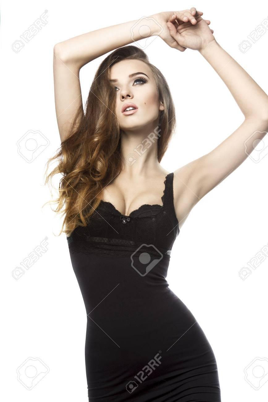 Flowing Black Dress Girl