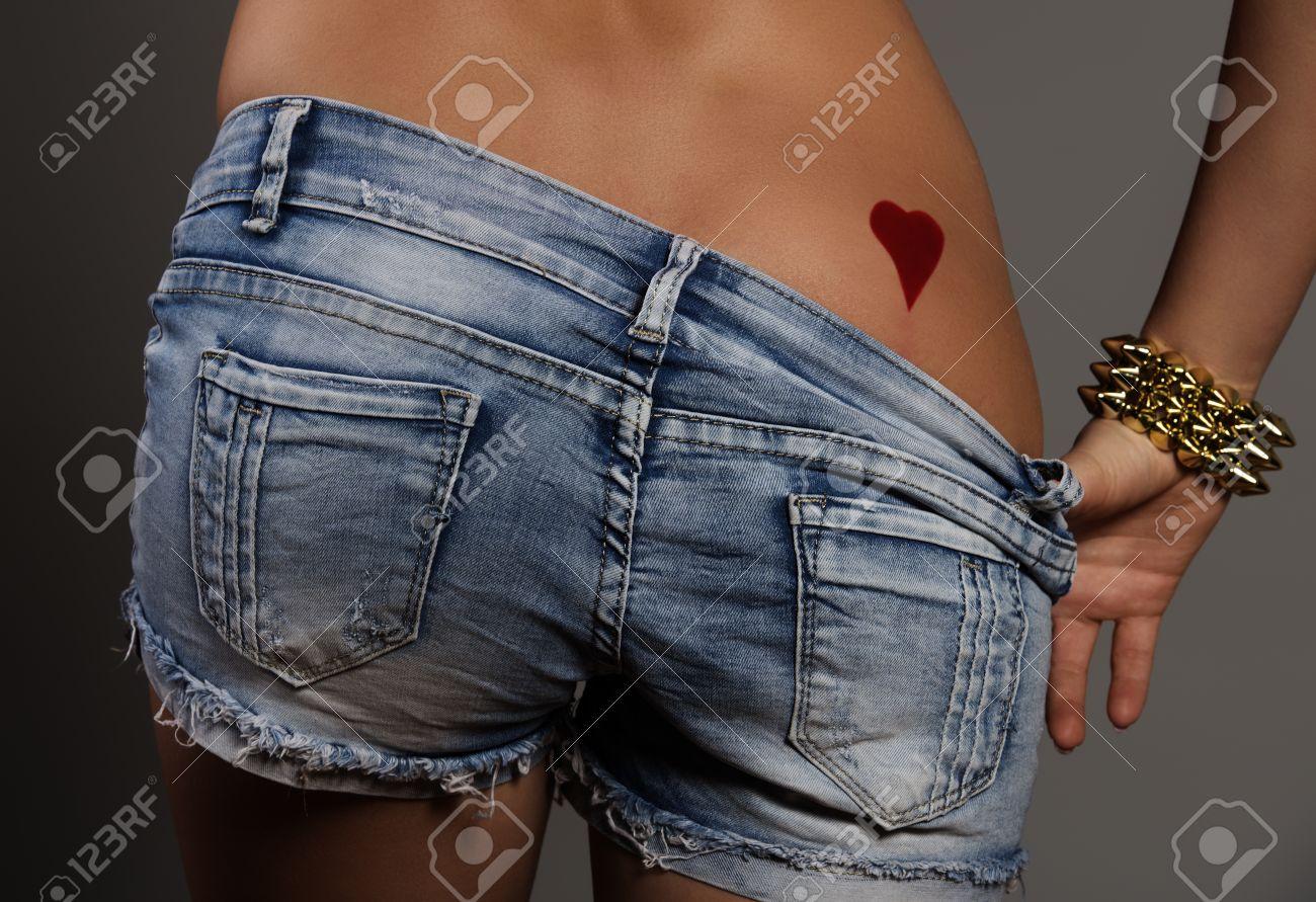 shorts showing ass