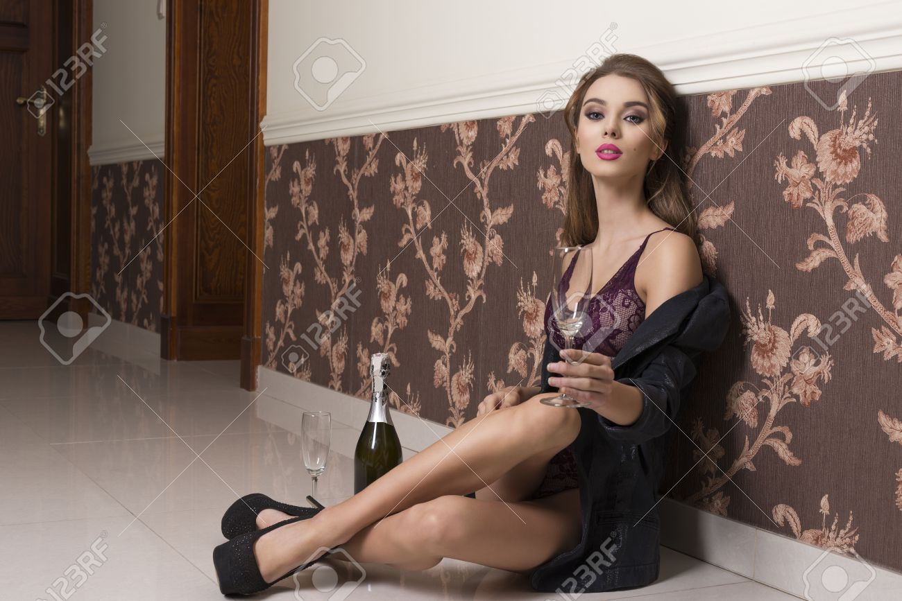 59b9108f13 Stock Photo - very sexy woman with open jacket