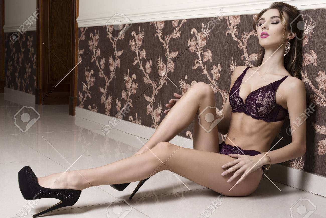 Sexy lingerie with heels