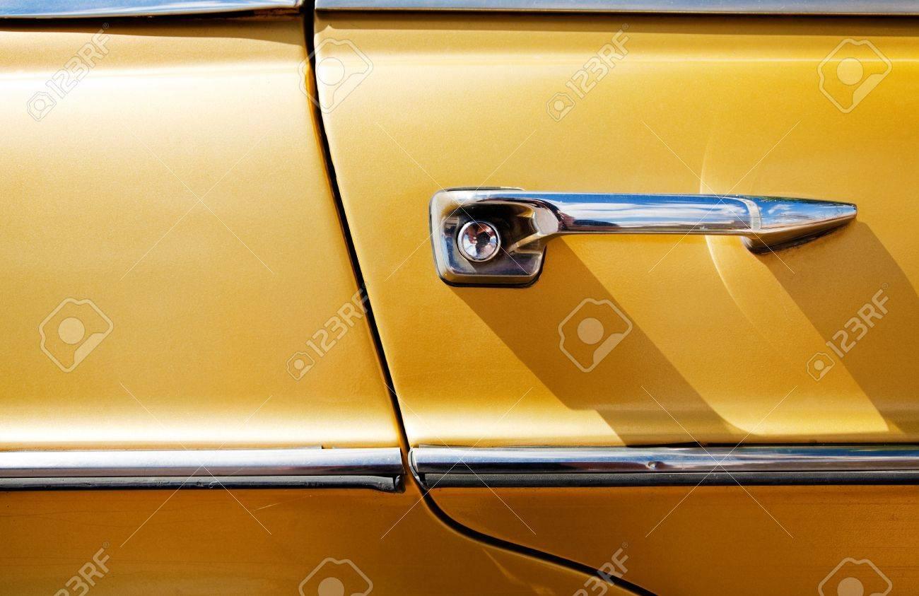 Detail of vintage car door Stock Photo - 8199518