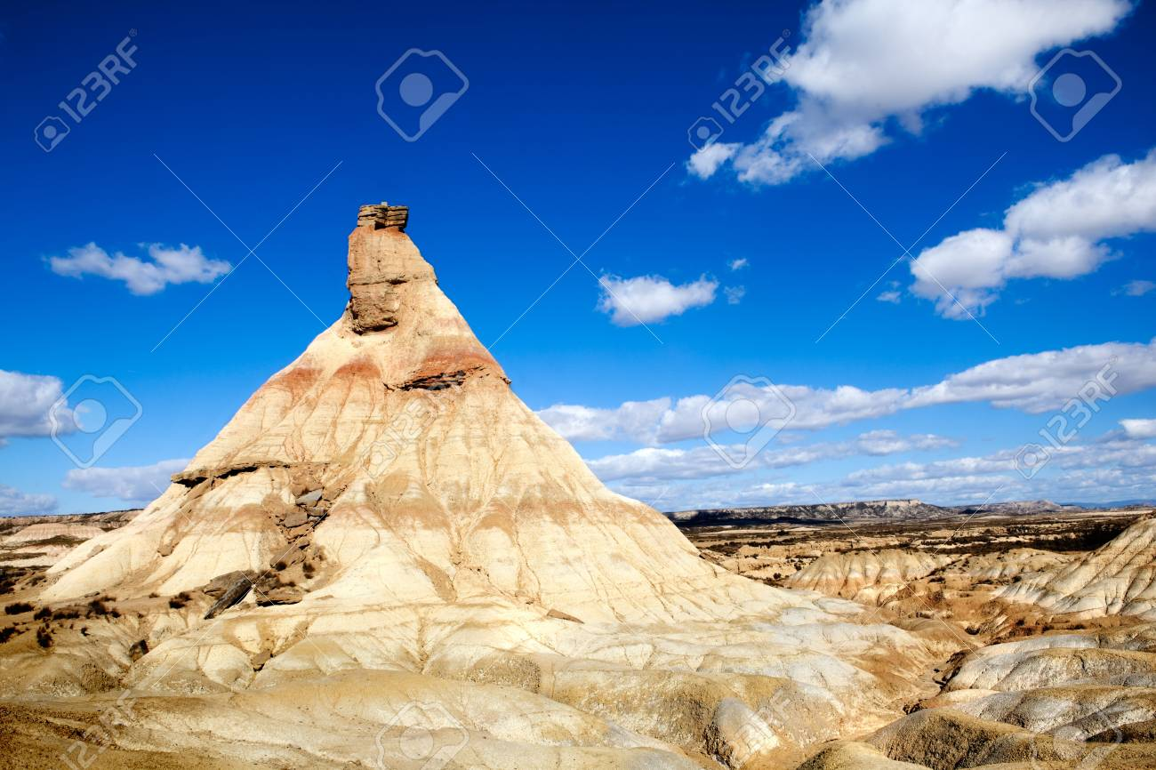 Desert landscape with mountain and sky Stock Photo - 8462472