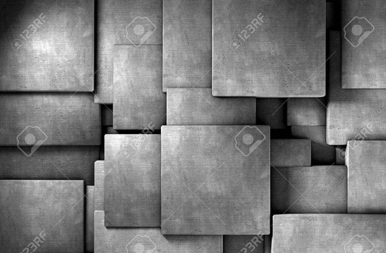 3d abstract background cement blocks - 18586247