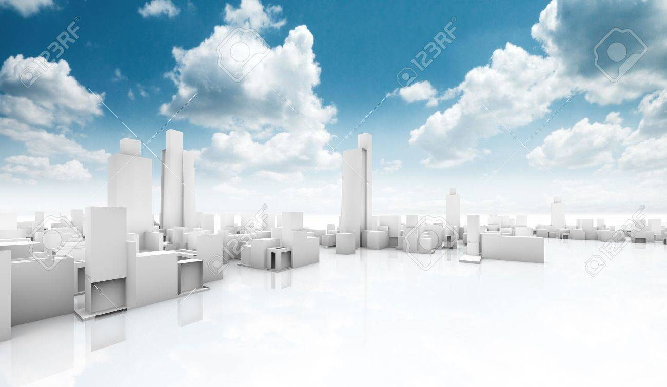 City building.Outdoor ecological construction - 18585896