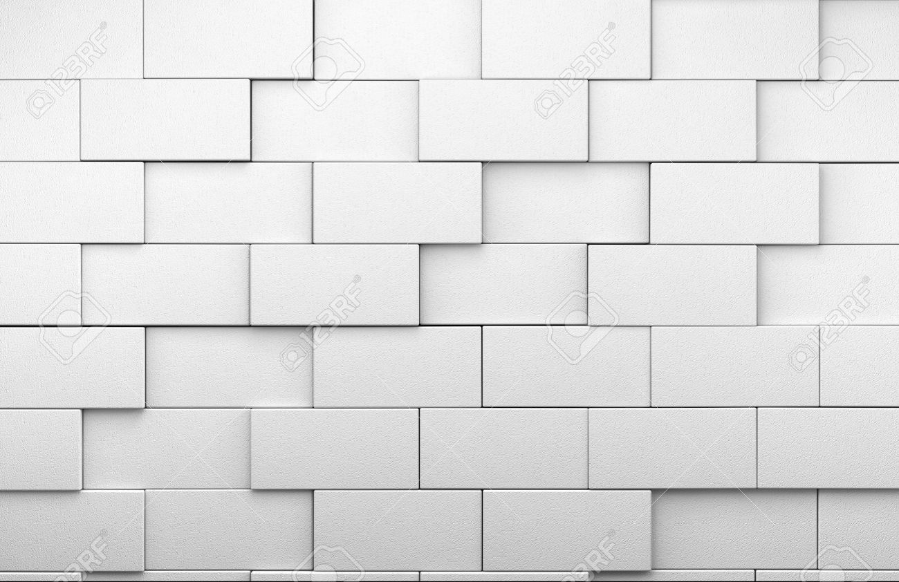 3d White Tile Wall Background Stock Photo, Picture And Royalty Free ...
