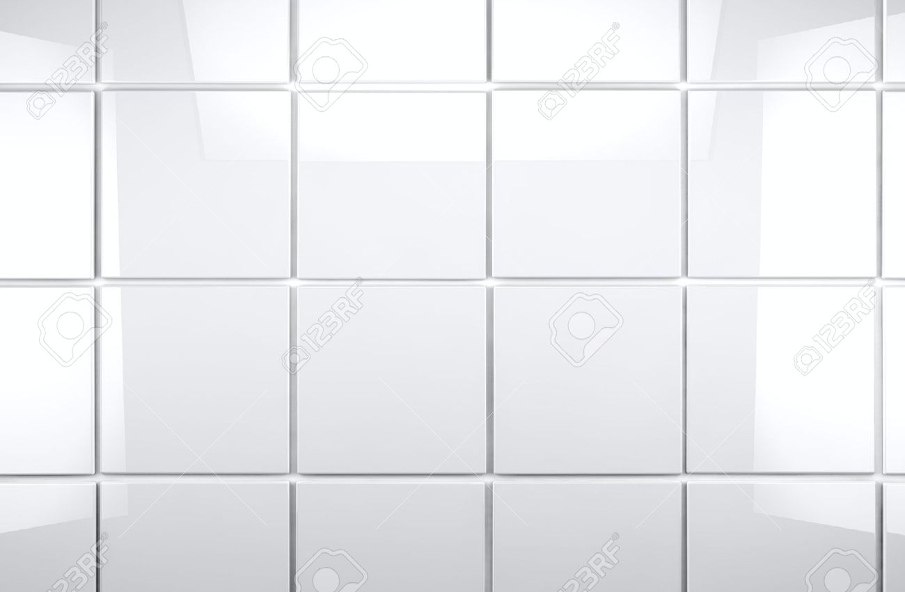 3d White Tile Wall Background Stock Photo, Picture And Royalty ...