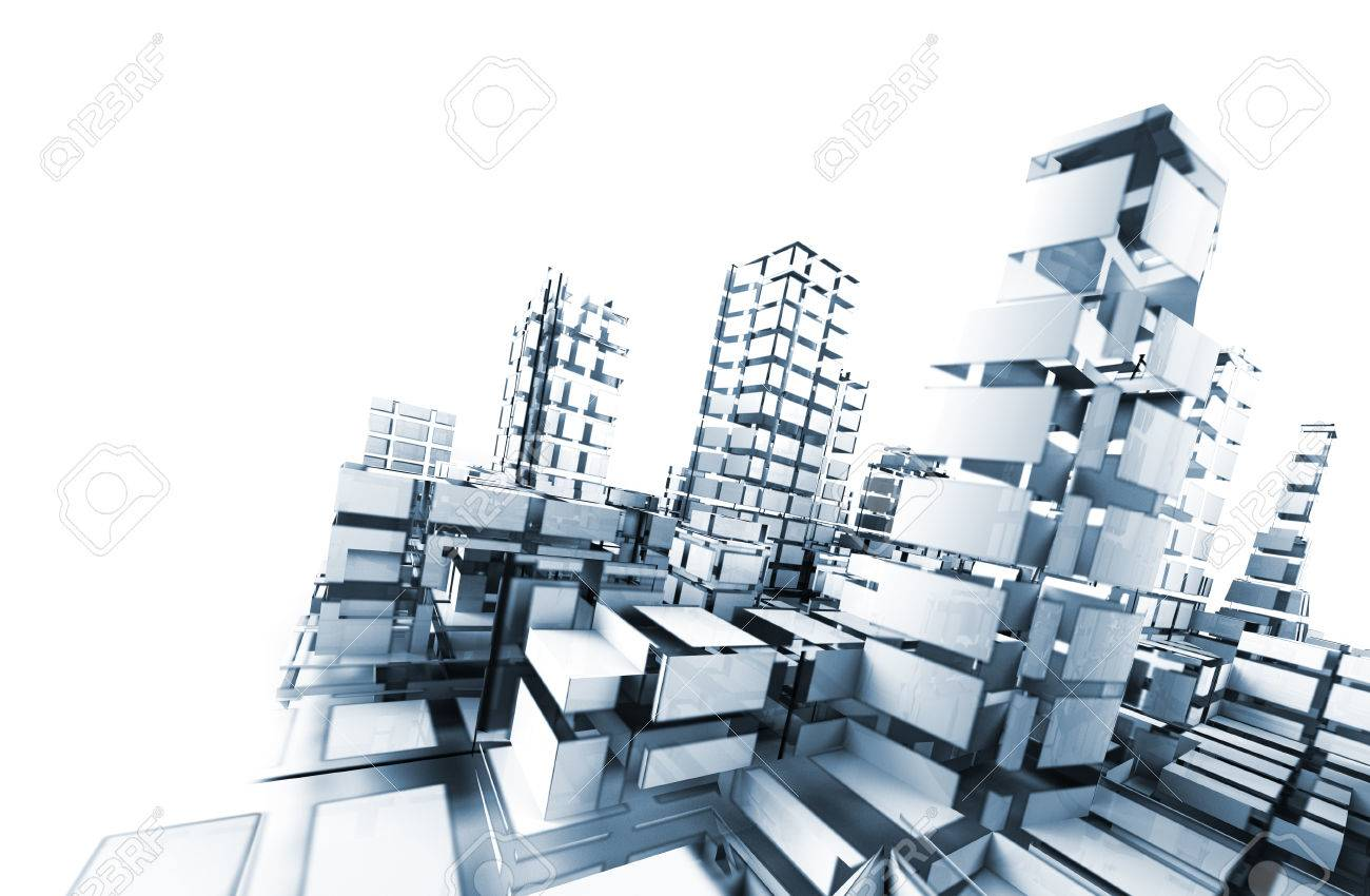 abstract architecture .technology and architecture concept - 26870319